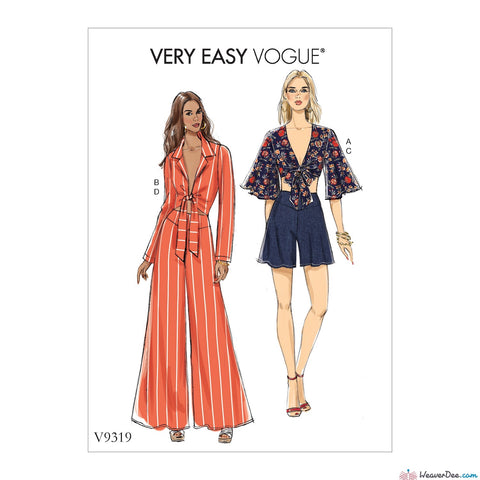 Vogue Pattern V9319 Misses' Top, Shorts & Pants