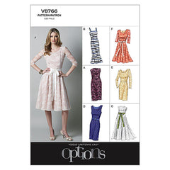 Vogue - V8766 Misses'/Misses' Petite Dress | Easy - WeaverDee.com Sewing & Crafts - 1