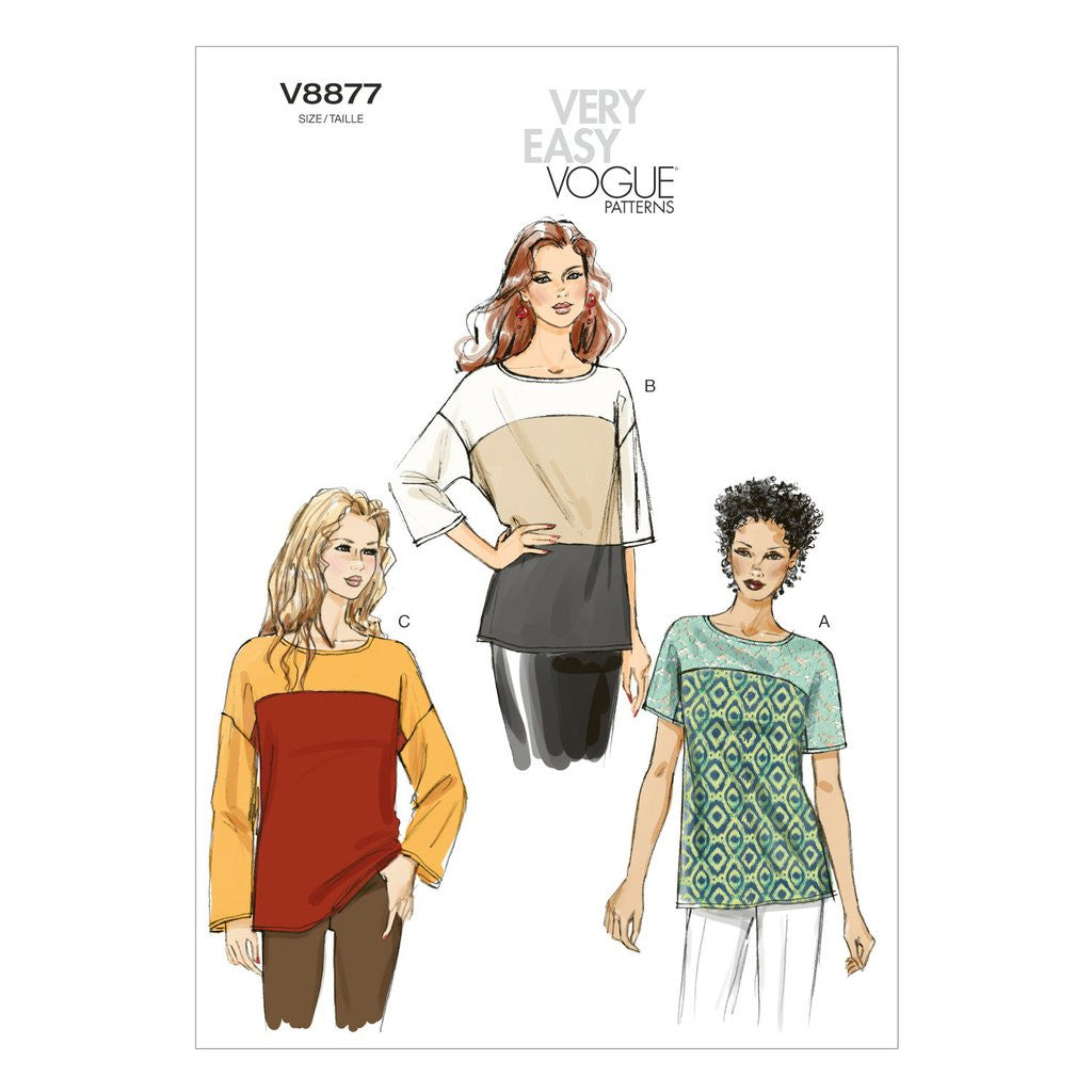 Vogue - V8877 Easy Misses' Top - WeaverDee.com Sewing & Crafts - 1