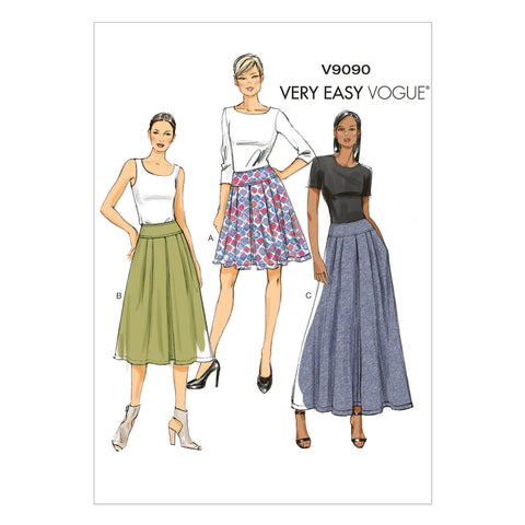 Vogue - V9090 Misses' Skirt | Very Easy - WeaverDee.com Sewing & Crafts - 1