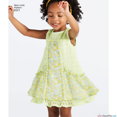 New Look Pattern N6521 Toddler Dress, Tunic & Pants