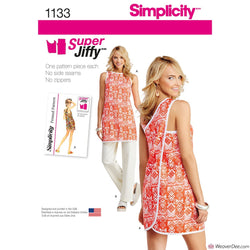 Simplicity Pattern S1133 Misses' Super Jiffy Tunic & Pants