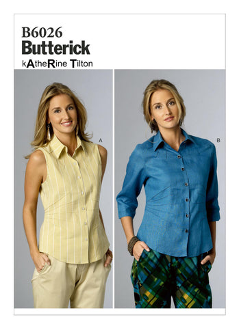 Butterick Pattern B6026 Misses' Radiating Pin-Tuck Tops
