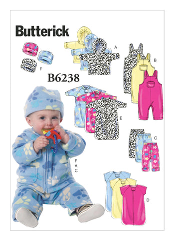 Butterick Pattern B6238 Infants' Jacket, Overalls, Pants, Bunting & Hat