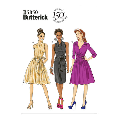 Butterick - B5850 EASY Misses' Dress - WeaverDee.com Sewing & Crafts - 1