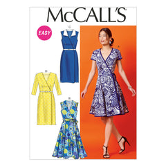 McCall's - M6959 Misses' Dresses & Belt | Easy - WeaverDee.com Sewing & Crafts - 1