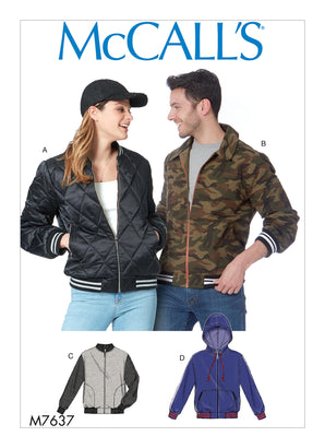 McCall's Pattern M7637 Misses' & Men's Bomber Jackets