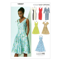 Vogue - V8997 EASY Misses' Dress - WeaverDee.com Sewing & Crafts - 1