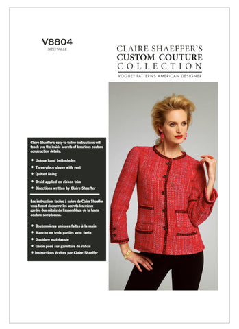Vogue - V8804 Misses' Jacket by Claire Shaeffer - WeaverDee.com Sewing & Crafts - 1