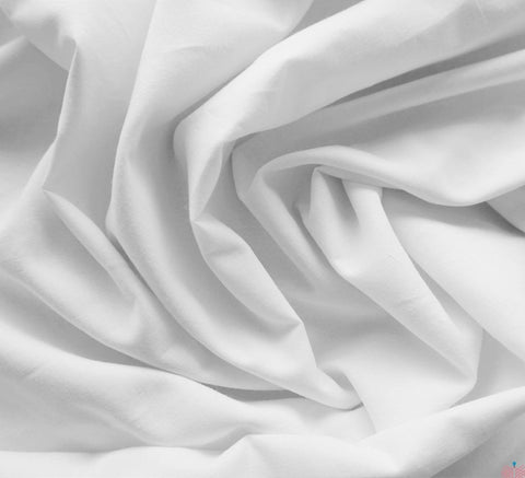 Plain Cotton Lawn Fabric / White