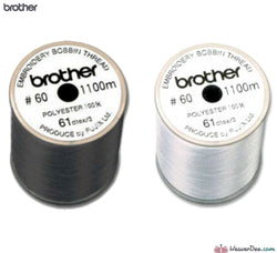 Brother - Brother Bobbin Thread 1100m (Grey Top Reel) - WeaverDee.com Sewing & Crafts - 1