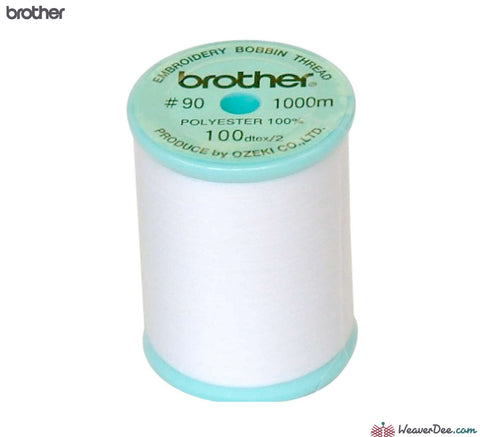 Brother - Brother Bobbin Thread White / 1000m (Blue Top Reel) - WeaverDee.com Sewing & Crafts