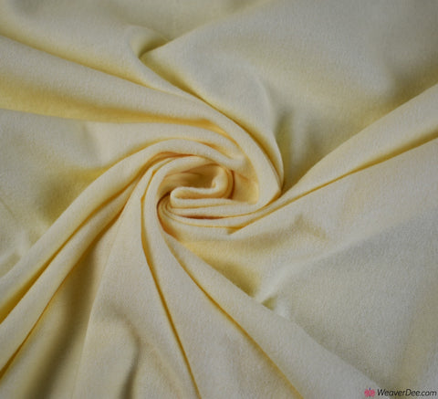 Lemon Cotton Winceyette Fabric (Flannelette)
