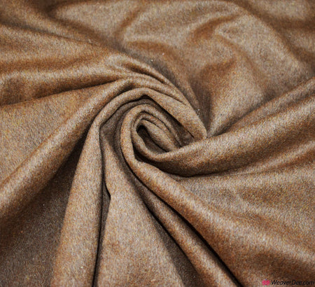 Coating Fabric - Wool Mix Melton / Dark Camel