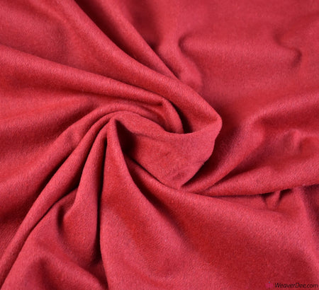 Coating Fabric - Wool Mix Melton / Red