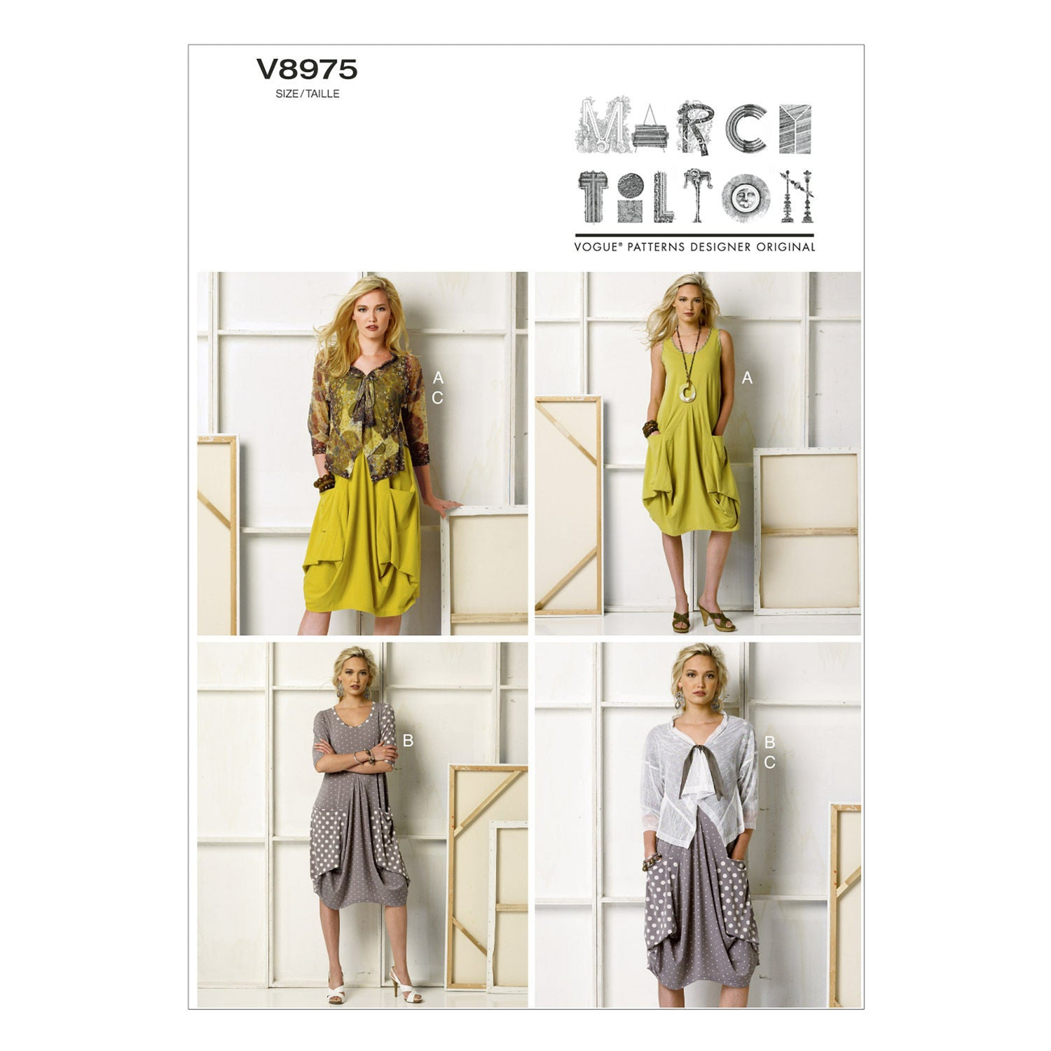 Vogue - V8975 Misses' Dress & Jacket by Marcy Tilton - WeaverDee.com Sewing & Crafts - 1