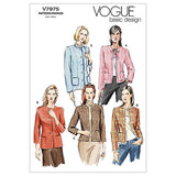Vogue - V7975 Misses'/Misses' Petite Jacket | Easy - WeaverDee.com Sewing & Crafts - 1