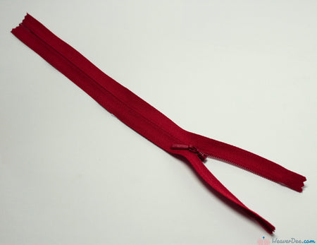 YKK - Concealed Nylon Zip [519 Red] - WeaverDee.com Sewing & Crafts