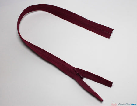 YKK - Concealed Nylon Zip [527 Wine] - WeaverDee.com Sewing & Crafts