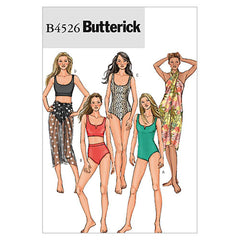 Butterick - B4526 Misses' Swimsuit & Wrap | Easy - WeaverDee.com Sewing & Crafts - 1