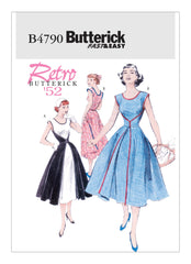 Butterick - B4790 Misses' Vintage  1950's Wrap Dress | Very Easy - WeaverDee.com Sewing & Crafts - 1