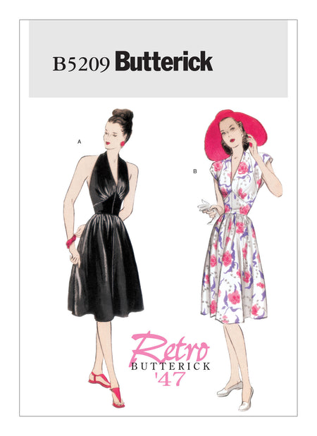 Butterick Pattern B5209 Misses' 1950's Dress | Vintage | Easy