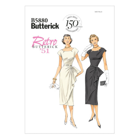Butterick - B5880 Vintage 1950s Misses' Petite Dress & Belt - WeaverDee.com Sewing & Crafts - 1