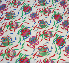 WeaverDee - Ivory Christmas Cotton Fabric - Baubles - WeaverDee.com Sewing & Crafts - 1
