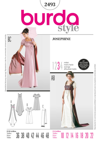 Burda - BD2493 Josephine Costume - WeaverDee.com Sewing & Crafts - 1