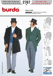 Burda - BD2767 Victorian Gentlemen Costume - WeaverDee.com Sewing & Crafts - 1