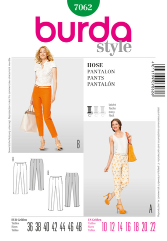 Burda - BD7062 Misses' Pants | Easy - WeaverDee.com Sewing & Crafts - 1