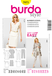 Burda - BD7075 Misses' Coordinates | Very Easy - WeaverDee.com Sewing & Crafts - 1