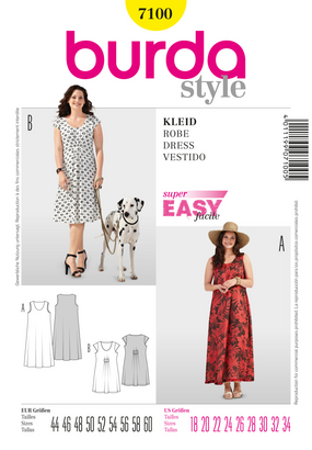Burda - BD7100 Dress | Very Easy - WeaverDee.com Sewing & Crafts - 1