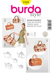 Burda - BD7119 Travel Bags | Easy - WeaverDee.com Sewing & Crafts - 1