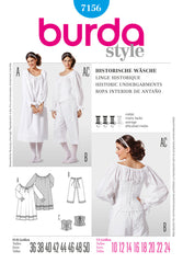 Burda - BD7156 Historic Undergarments Costume - WeaverDee.com Sewing & Crafts - 1