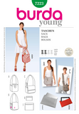 Burda - BD7223  Bags | Easy - WeaverDee.com Sewing & Crafts - 1