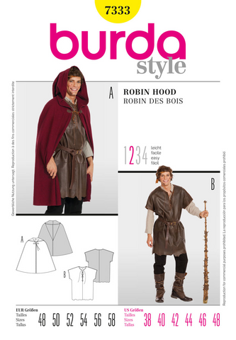 Burda - BD7333 Robin Hood Costume - WeaverDee.com Sewing & Crafts - 1