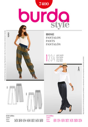 Burda - BD7400 Womens' Pants | Very Easy - WeaverDee.com Sewing & Crafts - 1
