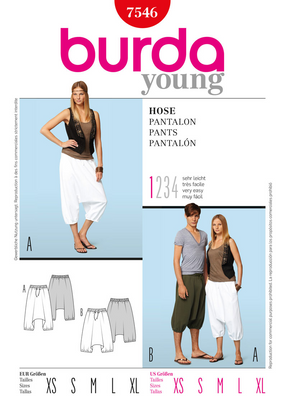 Burda - BD7546 Unisex Pants | Very Easy - WeaverDee.com Sewing & Crafts - 1