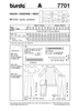 Burda - BD7701 Bollywood Costume - WeaverDee.com Sewing & Crafts - 3
