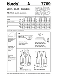 Burda - BD7769 Misses' Vest - WeaverDee.com Sewing & Crafts - 2