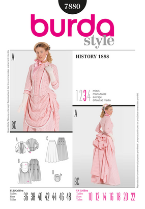 Burda - BD7880 Misses' Victorian Costume - WeaverDee.com Sewing & Crafts - 1