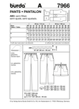 Burda - BD7966 Misses' Pants | Very Easy - WeaverDee.com Sewing & Crafts - 2