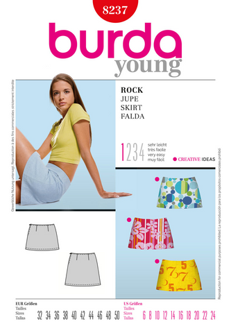 Burda - BD8237 Misses' Skirt | Very Easy - WeaverDee.com Sewing & Crafts - 1