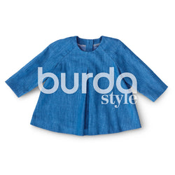 Burda Pattern BD9348 Baby's Loose Dress