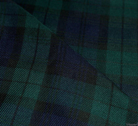 WeaverDee - Polyviscose Tartan Fabric / Blackwatch - WeaverDee.com Sewing & Crafts - 1