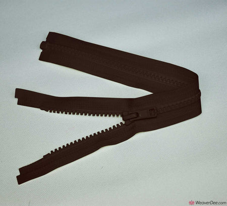YKK Vislon Open Ended Zip [570 Brown - 5mm Tooth Width]