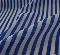 WeaverDee - Poly Cotton Fabric - Stripe Blue - WeaverDee.com Sewing & Crafts - 1