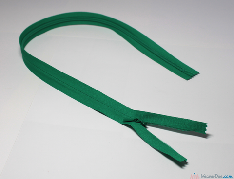 YKK - Concealed Nylon Zip [540 Bright Green] - WeaverDee.com Sewing & Crafts