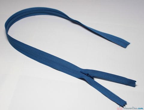 YKK - Concealed Nylon Zip [557 Saxe Blue] - WeaverDee.com Sewing & Crafts